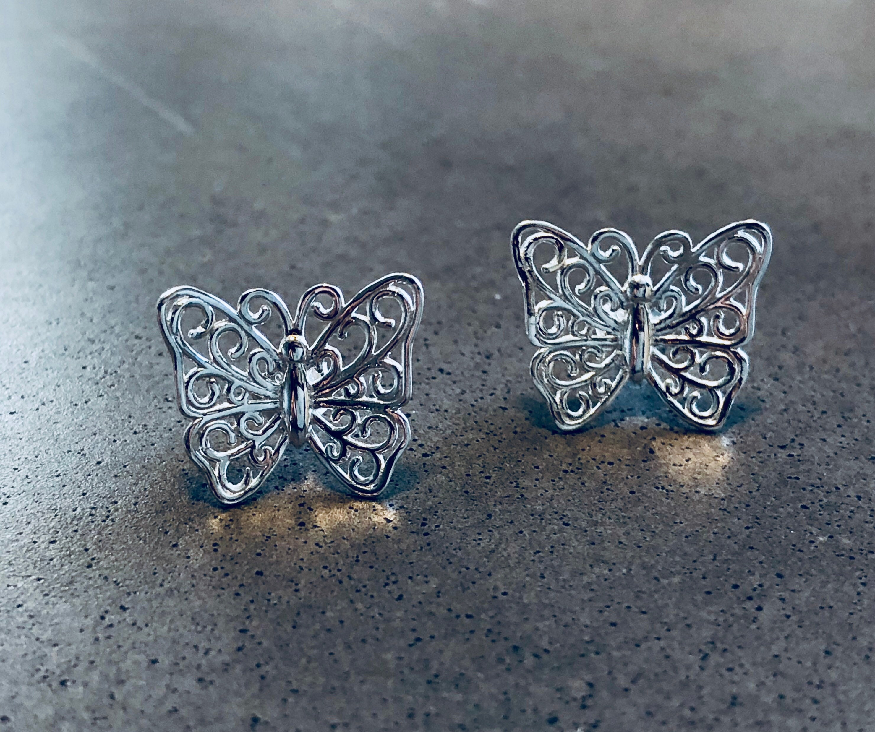 stud products butterfly x earrings cz gold small yellow