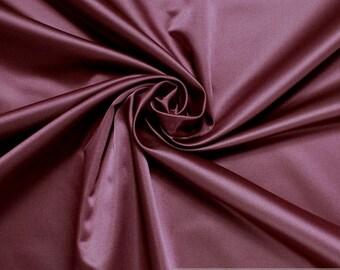 Fabric Trevira® CS satin bordeaux not flammable dark red