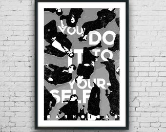 Radiohead - Just inspired music art print