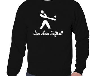 Live Love Softball Sweatshirt