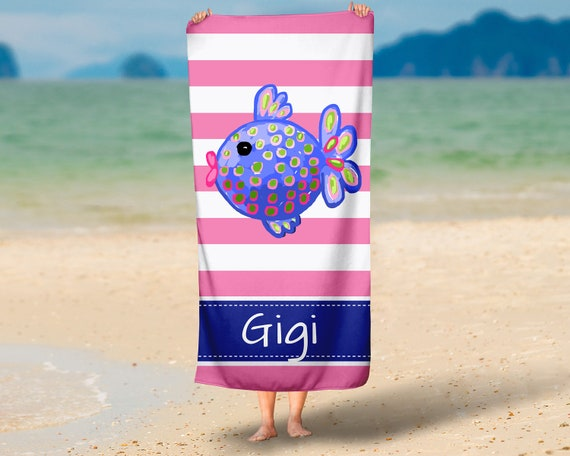 personalized beach towel design your own pool towel lily