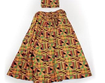 Africa Kente Long Skirt #2