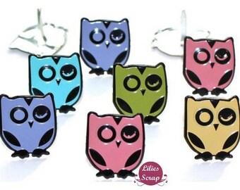 10 Brads owls owls 15 mm owls brads
