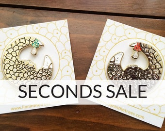 SECONDS SALE Pangolin Soft Enamel Pin