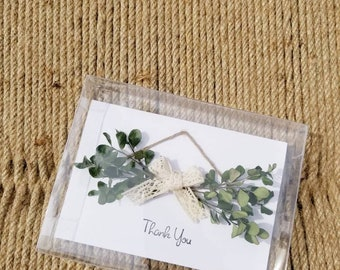 Dried Flowers Thank You Card