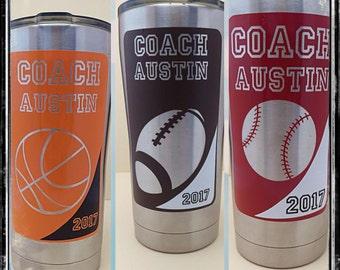 20 oz Ozark Tumbler Customized Coaches Gift Drinkware