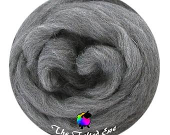 Needle Felting Wool Roving / ES38 Grey Wolf Carded Wool Sliver