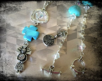 Native Aqua Necklace! Its a One of a Kind Creation! You will Love it!