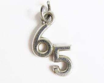 Vintage Sterling Silver 65 Charm
