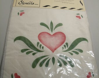 Set of hand stenciled pillow kits for quilting New in Package Floral Pattern