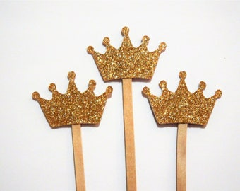 Gold Crown Drink Stirrer,Princess Theme,Baby Shower,Bachelorette Party,Bridal Shower,Wedding,Kings Crown,Royal Prince