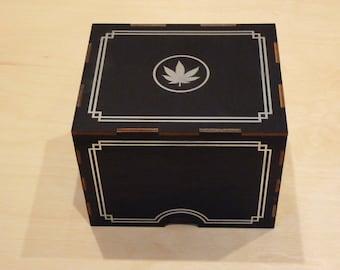 Silver Leaf Incognito Stash Box