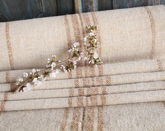 S53: antique, CARAMELL,  15.87y, lin, upholsteryric, tablerunner, cushion, decor, french lin, fabric by the yard
