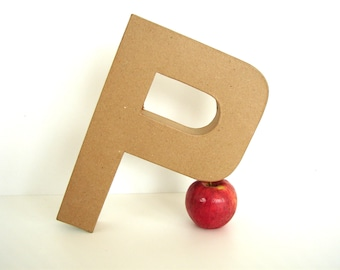 "Paper Mache Letter P (12"" tall) - Ready to Decorate Blank Letter, Home Decor, and more"