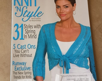 Knit 'n Style Magazine April 2010 Issue - 31 Spring Styles - Real Fashion for Real Knitters - Spring Trends