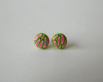 6 mm Small Polymer Clay Stud Earrings
