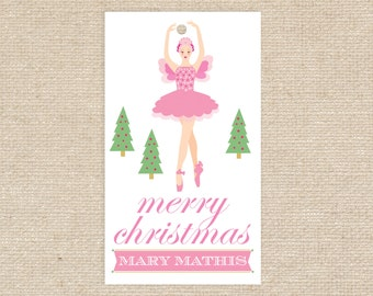 25 Personalized Sugar Plum Fairy Gift Tags