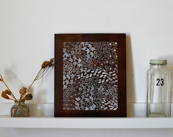 Reclaimed Wood-Hand Stamped Art onto Reclaimed Wood-upcycle wall art, repurposed wood