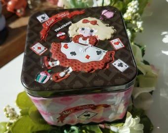 Alice in Wonderland Tin Box