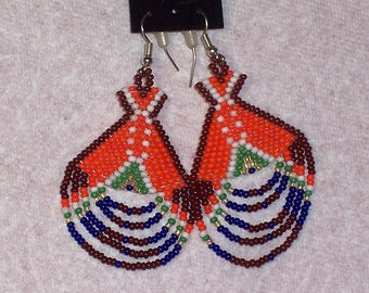 Native American Beaded Teepee Earrings