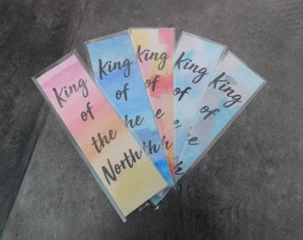King of The North bookmark, Game of Thrones bookmark, Jon Snow bookmark, GoT bookmark, handmade bookmark