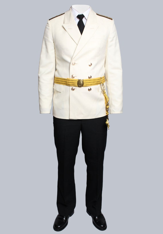 Russian Navy Fleet White Parade Captain uniform, Soviet Naval suit VMF USSR