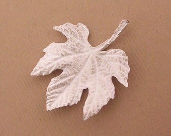 silver grape leaf casting, sterling silver, cast, unfinished finding for silversmiths UL045-1