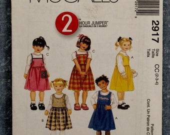 2000 Toddlers 2 Hour Easy Fitting Jumper CC(2-3-4) McCall's 2917 Sewing Pattern Pat137