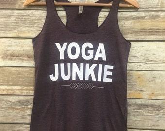 Yoga Junkie womens racerback tank - yoga tank - womens tank