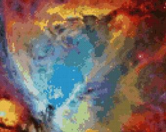 Orion Nebula NGC 1976 Hubble Telescope Cross Stitch pattern PDF - Instant Download!