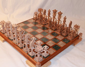 Scroll Saw Pattern: Advanced Chess Set