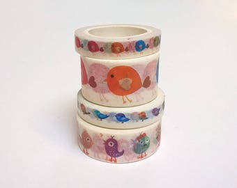 masking tape birds 5, 7 or 10 meters, pattern choice