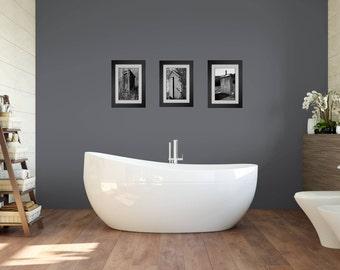 Funny Bathroom Art, Bathroom Wall Art, 3 Print Set, Framed Prints, Bathroom