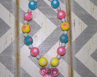 Minnie Mouse Bubble Gum Necklace