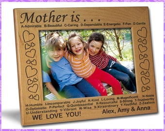 5x7 Personalized Custom Engraved Mother Frame