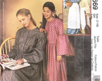 McCall's 3669 Girl's Prairie Costume Pattern, 7-16