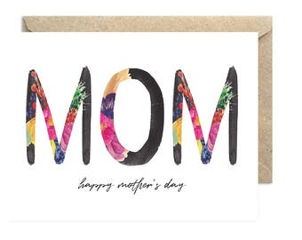 Mom Happy Mother's Day, Mom Card, Happy Mother's Day Card, Card for Her - 008C