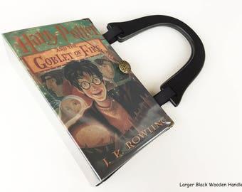 Harry Potter and The Goblet of Fire Book Purse - Book Lover Gift - Harry Potter Collector Gift - Hogwarts Book Cover Handbag - Pocketbook