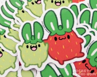 Strawberry Bunny / Strawbunny Vinyl Sticker