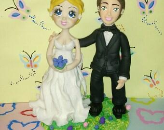 Wedding Cake Topper/ Novios para Pastel