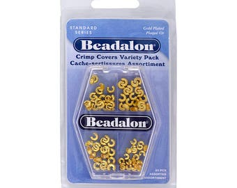 Beadalon Crimp Covers, Assorted, Gold Color, 80 pc