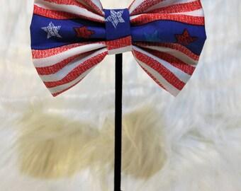 Raise The Flag Pet Bow Tie