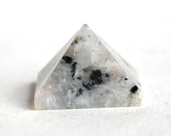 Rainbow Moonstone Crystal Pyramid Natural Stone