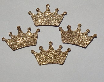 25 Gold Glitter Crowns,Embellishments,Confetti,Birthday,Princess Theme