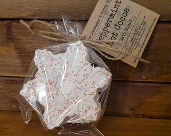 Peppermint Hot Cocoa Snow Flake Bath Bomb