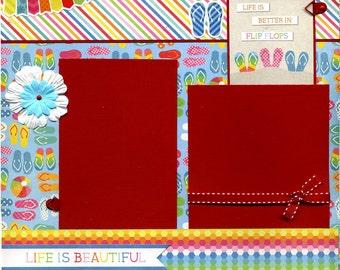 Life Is Better In Flip Flops - 12x12 Premade Scrapbook Page