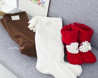 21 Women Fleece Boots PDF Sewing Pattern (US size 5-10)