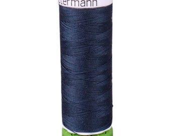 Midnight Blue Gutermann Recycled Polyester Thread (GT339)