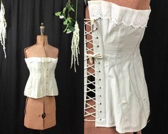 Antique 1910 excelsior corset spiral steel stays