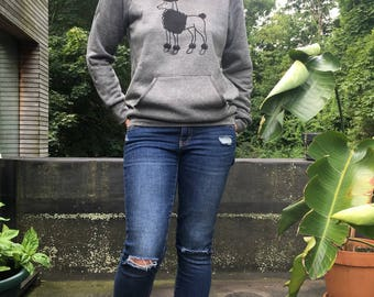 Stylin' Poodle Sweatshirt, Poodle Sweater, Poodle Gift, Dog Sweater, Cozy Sweater, S,M,L,XL,2XL